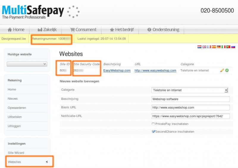MultiSafepay Connect - App Webshop Multisafepay